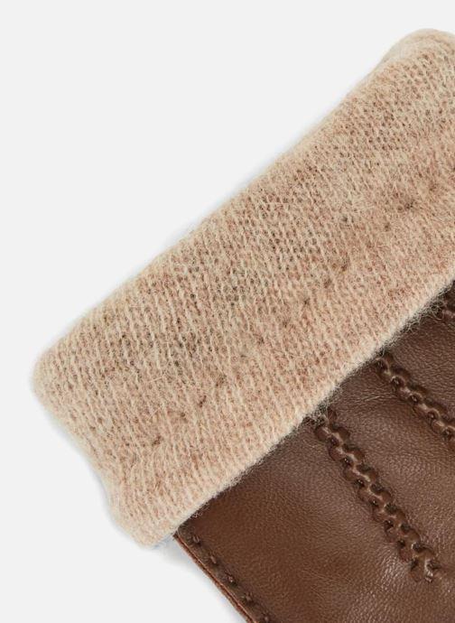 Handschoenen Monoprix Homme GANTS CUIR DOUBLURE LAINE Bruin model