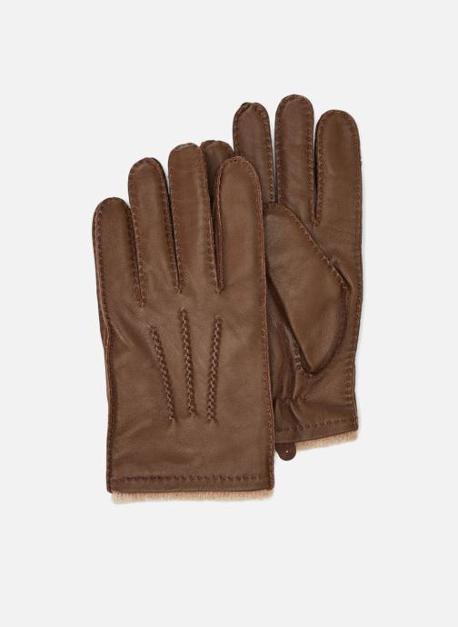 Handschoenen Monoprix Homme GANTS CUIR DOUBLURE LAINE Bruin detail
