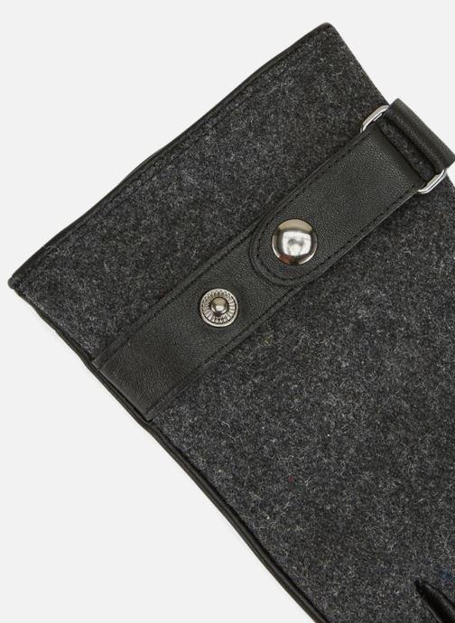 Handschoenen Monoprix Homme GANTS FEUTRE CUIR Zwart model