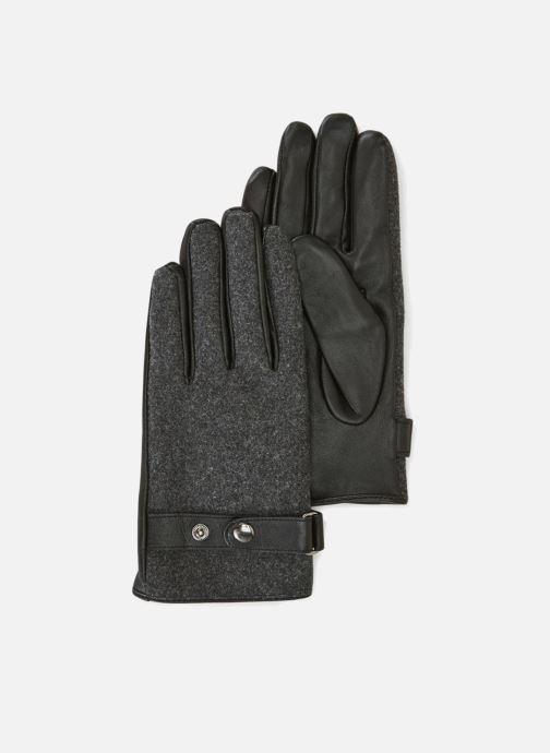 Handschoenen Monoprix Homme GANTS FEUTRE CUIR Zwart detail
