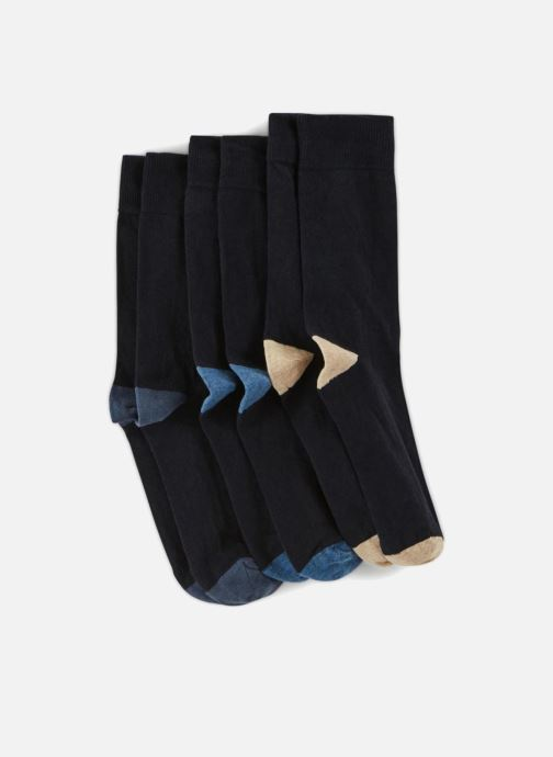 Chaussettes et collants Monoprix Homme CHAUSSETTE LOT DE 3 Bleu vue portées chaussures