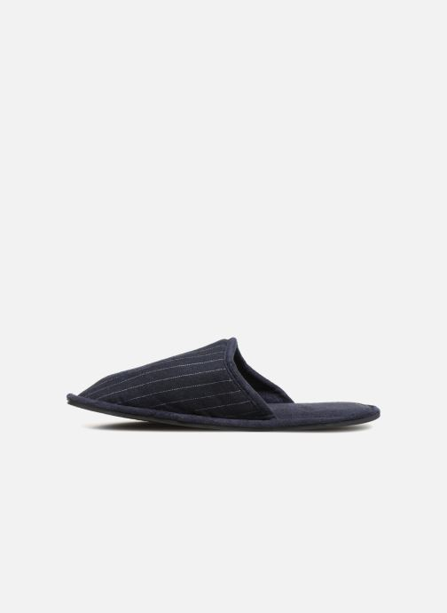 Slippers Monoprix Homme CHAUSSON Mules rayées Blue front view