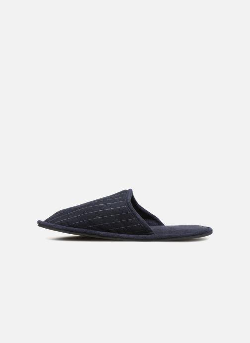 Pantoffels Monoprix Homme CHAUSSON Mules rayées Blauw voorkant