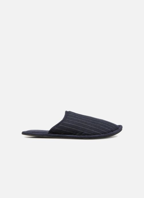 Slippers Monoprix Homme CHAUSSON Mules rayées Blue back view