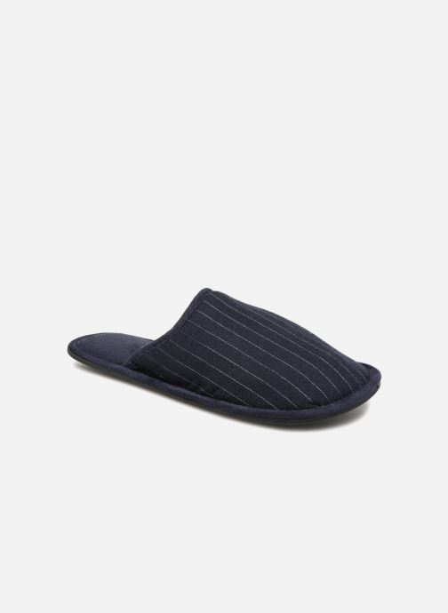 Slippers Monoprix Homme CHAUSSON Mules rayées Blue detailed view/ Pair view