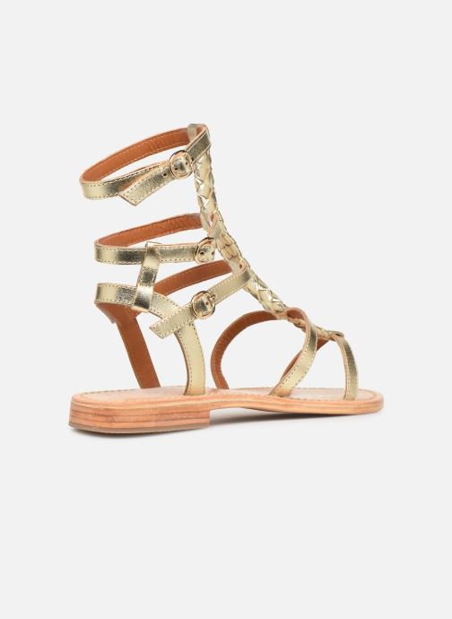 Sandales et nu-pieds Made by SARENZA Africa Vibes Plagettes #2 Or et bronze vue face