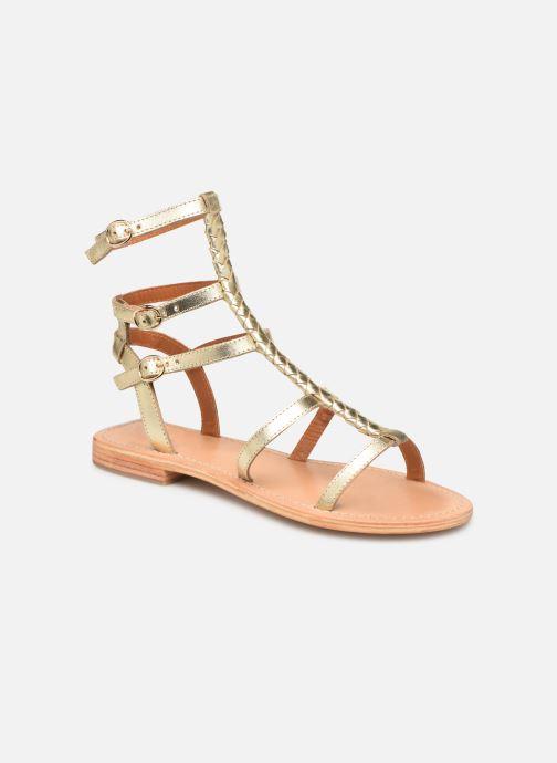Sandales et nu-pieds Made by SARENZA Africa Vibes Plagettes #2 Or et bronze vue droite