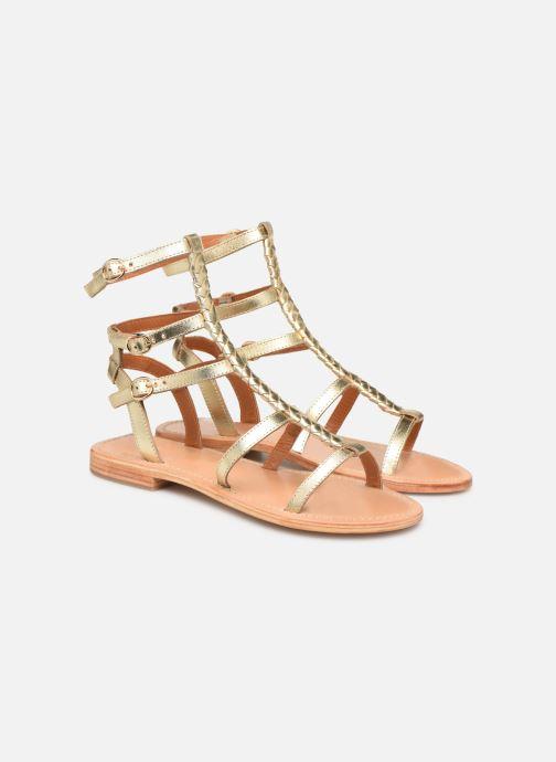 Sandales et nu-pieds Made by SARENZA Africa Vibes Plagettes #2 Or et bronze vue derrière