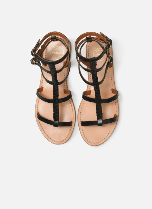 Sandales et nu-pieds Made by SARENZA UrbAfrican Plagettes #1 Noir vue portées chaussures