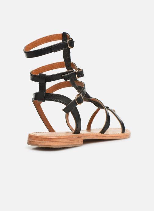 Sandales et nu-pieds Made by SARENZA UrbAfrican Plagettes #1 Noir vue face
