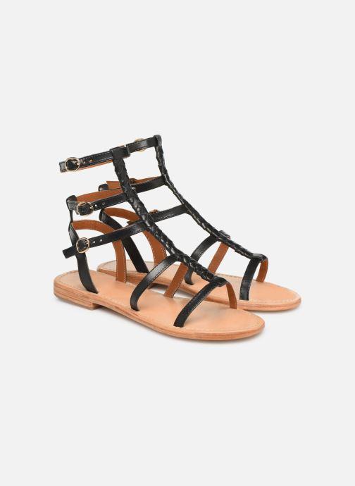 Sandales et nu-pieds Made by SARENZA UrbAfrican Plagettes #1 Noir vue derrière