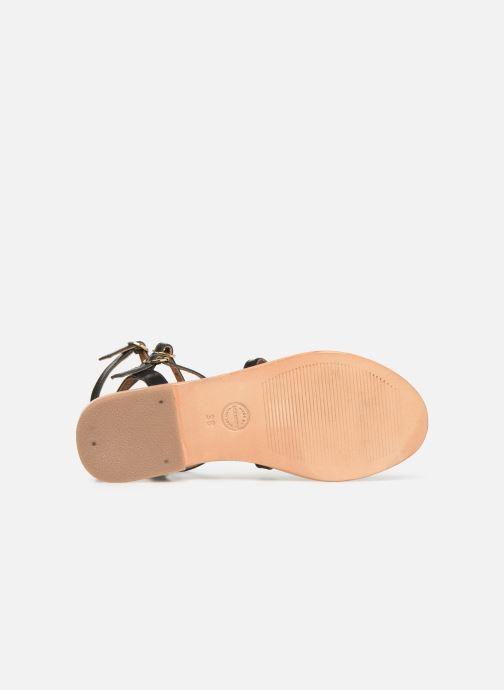Sandales et nu-pieds Made by SARENZA UrbAfrican Plagettes #1 Noir vue haut