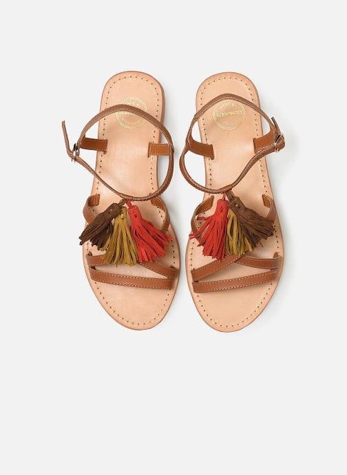 Sandales et nu-pieds Made by SARENZA UrbAfrican Plagettes #2 Marron vue portées chaussures