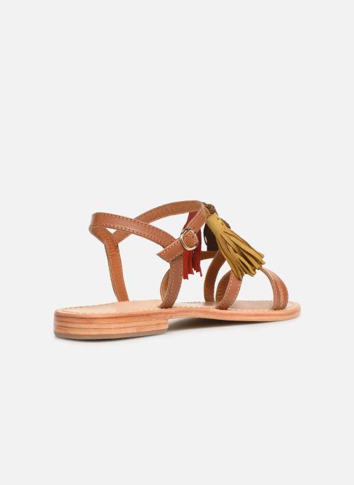 Sandales et nu-pieds Made by SARENZA UrbAfrican Plagettes #2 Marron vue face