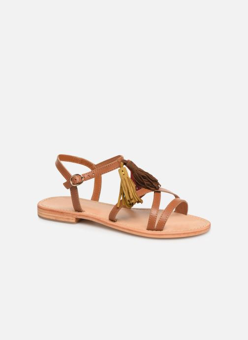 Sandales et nu-pieds Made by SARENZA UrbAfrican Plagettes #2 Marron vue droite