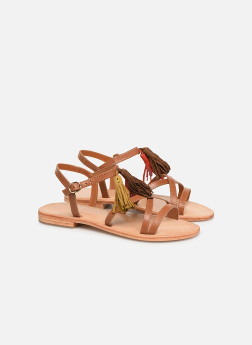 Sandales et nu-pieds Made by SARENZA UrbAfrican Plagettes #2 Marron vue derrière