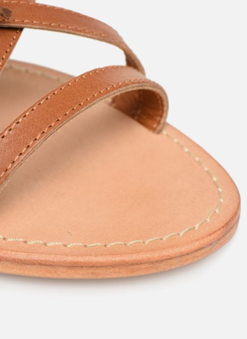 Sandales et nu-pieds Made by SARENZA UrbAfrican Plagettes #2 Marron vue gauche