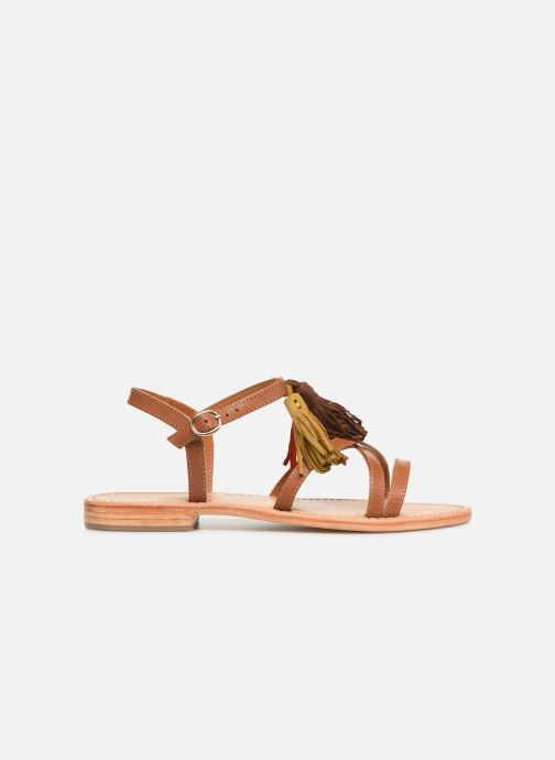 Sandales et nu-pieds Made by SARENZA UrbAfrican Plagettes #2 Marron vue détail/paire