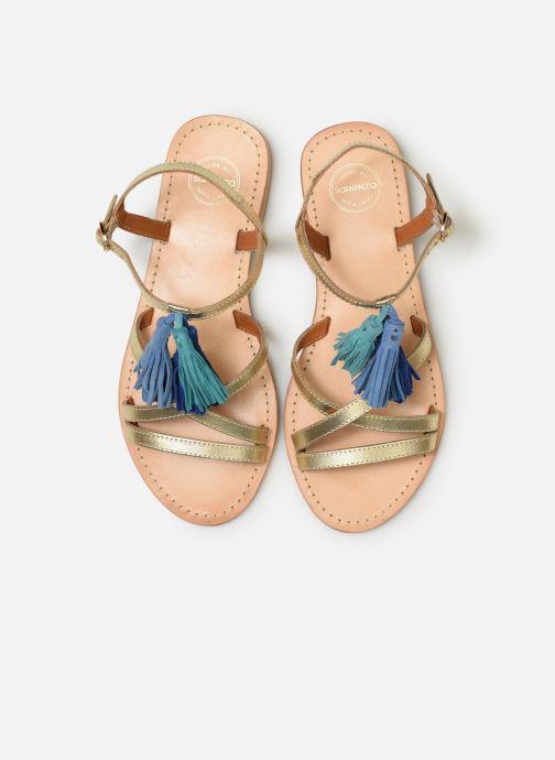 Sandalias Made by SARENZA UrbAfrican Plagettes #2 Oro y bronce vista del modelo