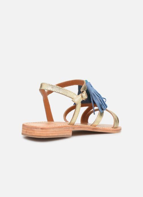 Sandalias Made by SARENZA UrbAfrican Plagettes #2 Oro y bronce vista de frente