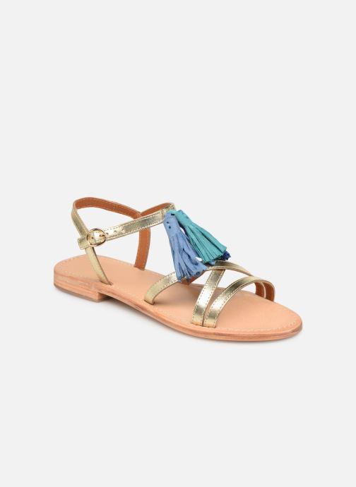 Sandales et nu-pieds Made by SARENZA UrbAfrican Plagettes #2 Or et bronze vue droite