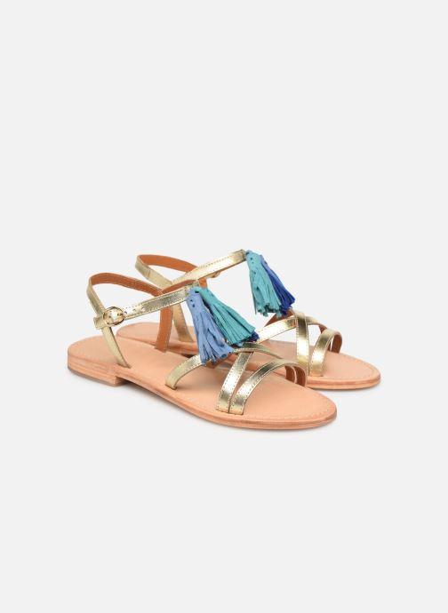 Sandales et nu-pieds Made by SARENZA UrbAfrican Plagettes #2 Or et bronze vue derrière