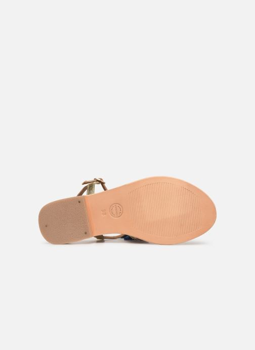 Sandales et nu-pieds Made by SARENZA UrbAfrican Plagettes #2 Or et bronze vue haut