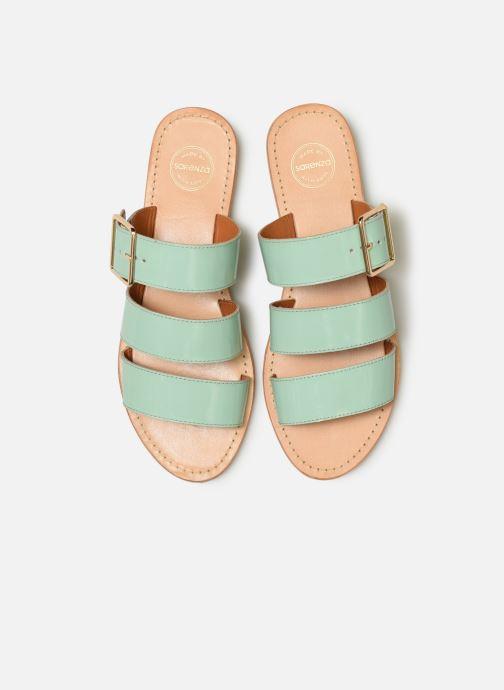 Mules et sabots Made by SARENZA Pastel Affair Plagettes #1 Vert vue portées chaussures