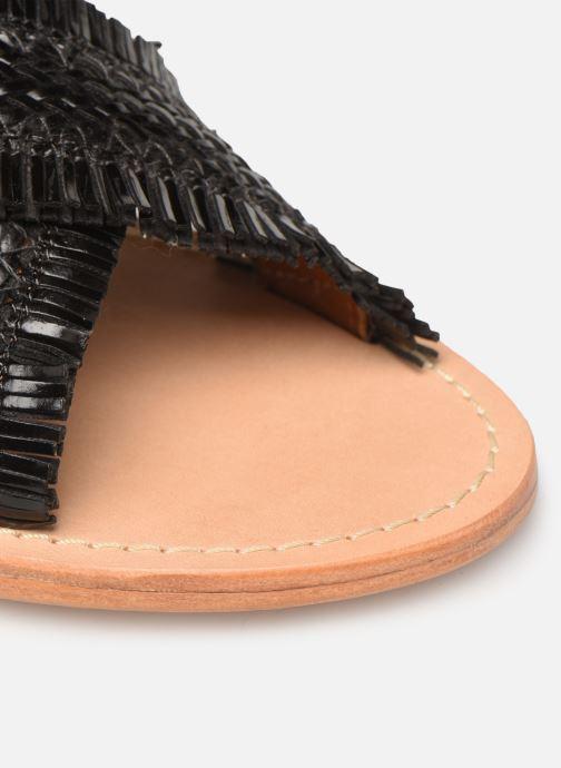 Mules et sabots Made by SARENZA UrbAfrican Plagettes #3 Noir vue gauche