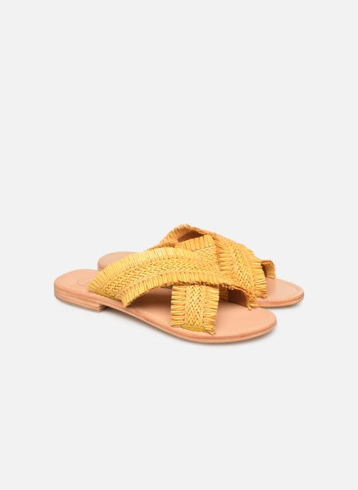 Wedges Made by SARENZA UrbAfrican Plagettes #3 Geel achterkant