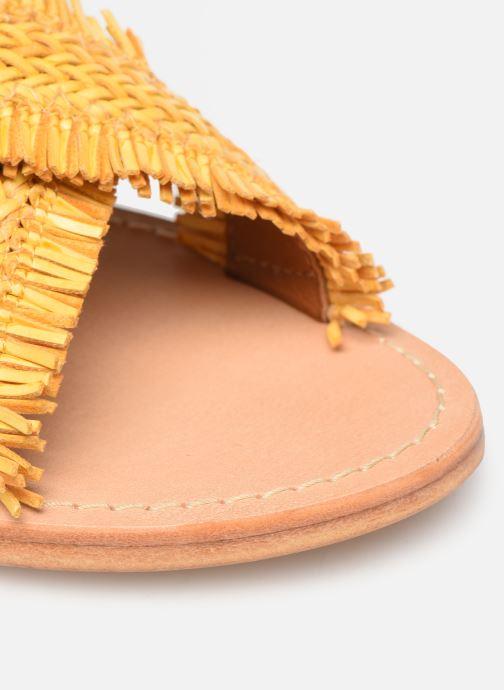 Zuecos Made by SARENZA UrbAfrican Plagettes #3 Amarillo vista lateral izquierda