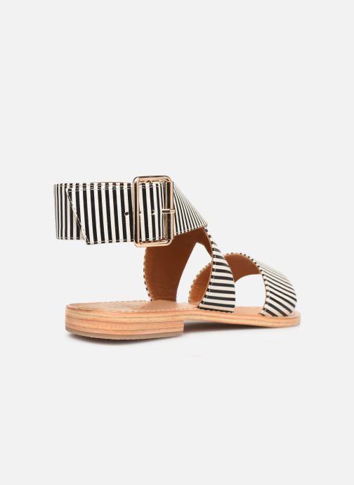 Sandalias Made by SARENZA Pastel Affair Plagettes #2 Negro vista de frente