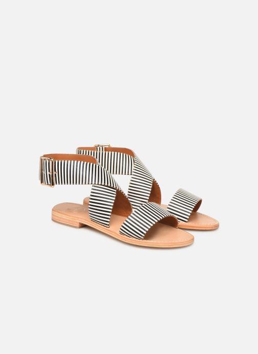Sandalen Made by SARENZA Pastel Affair Plagettes #2 schwarz ansicht von hinten