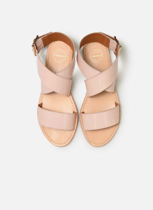 Sandalias Made by SARENZA Pastel Affair Plagettes #2 Rosa vista del modelo