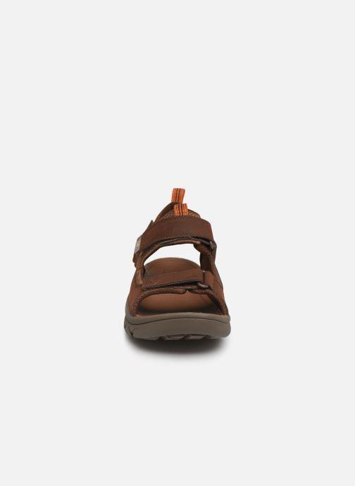 Sandales et nu-pieds Caterpillar Sigent Marron vue portées chaussures