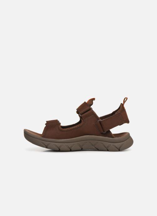 Sandales et nu-pieds Caterpillar Sigent Marron vue face