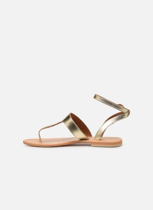 Sandales et nu-pieds Georgia Rose Balbina Or et bronze vue face