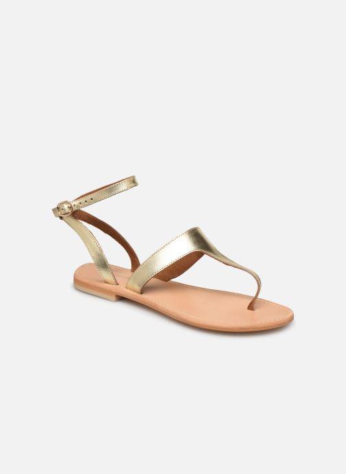 Sandales et nu-pieds Georgia Rose Balbina Or et bronze vue détail/paire