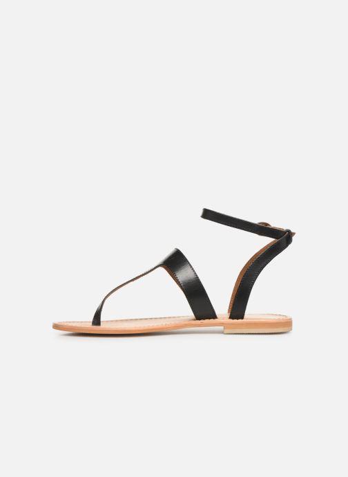 Sandales et nu-pieds Georgia Rose Balbina Noir vue face
