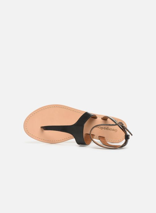Sandales et nu-pieds Georgia Rose Balbina Noir vue gauche
