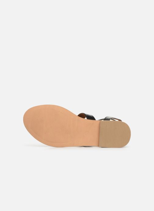 Sandales et nu-pieds Georgia Rose Balbina Noir vue haut