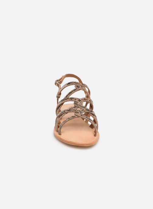 Sandales et nu-pieds Georgia Rose Benilda Marron vue portées chaussures