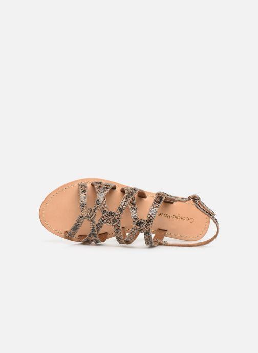 Sandales et nu-pieds Georgia Rose Benilda Marron vue gauche