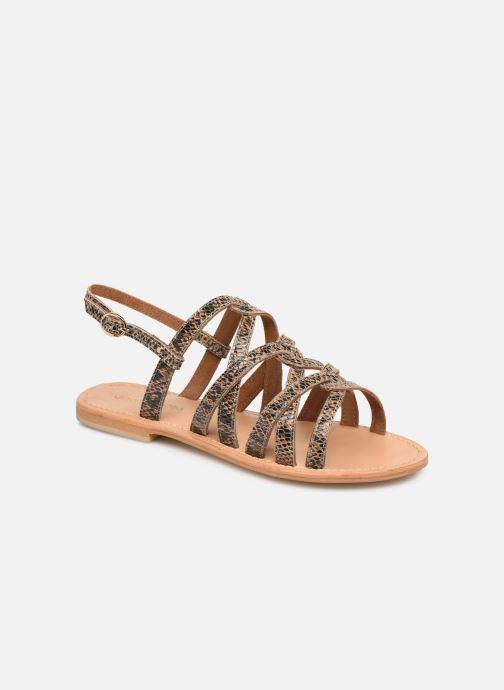 Sandales et nu-pieds Georgia Rose Benilda Marron vue détail/paire