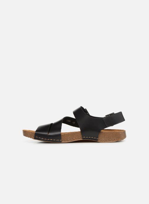 Sandales et nu-pieds Art I Breathe 1049 Noir vue face