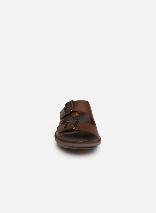 Mules et sabots Art I Explore 1370 Marron vue portées chaussures