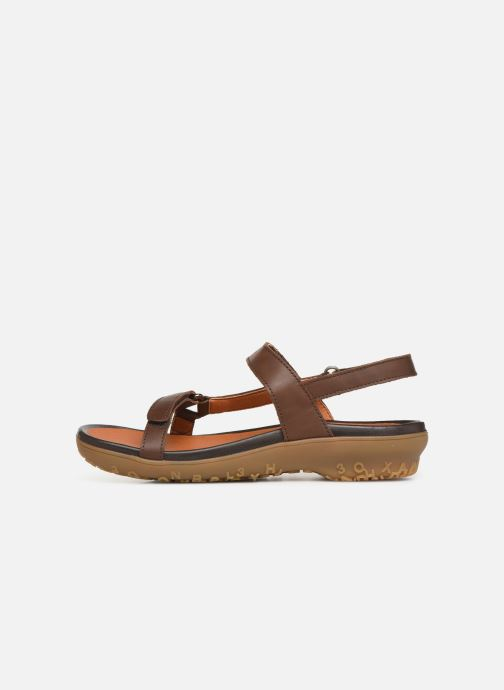Sandals Art Antibes 1502 Brown front view