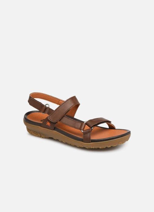 Sandals Art Antibes 1502 Brown detailed view/ Pair view