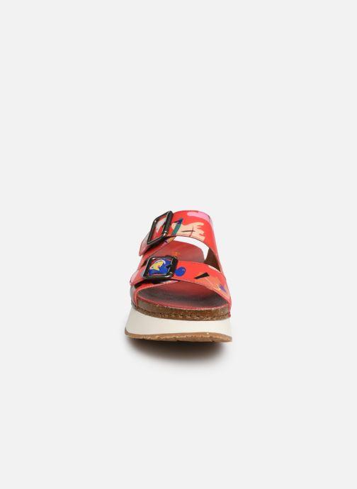 Mules et sabots Art Mykonos 1265F Rouge vue portées chaussures