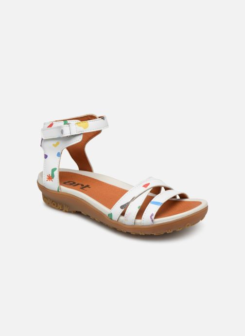 Sandals Art Antibes 1503F White detailed view/ Pair view